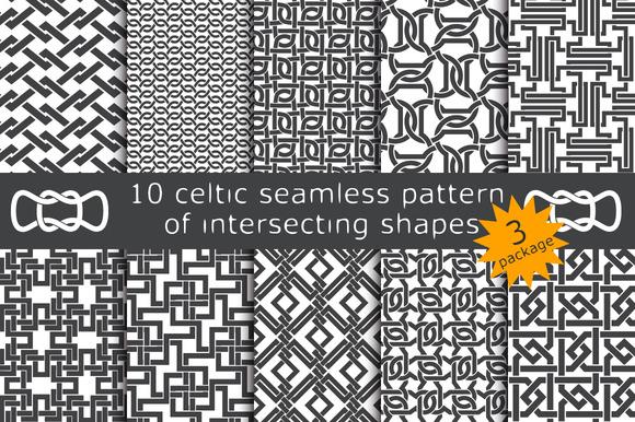 10 celtic patterns. Package 3 - Patterns