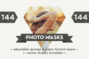 144 Photo Masks + Vector Sh-Graphicriver中文最全的素材分享平台