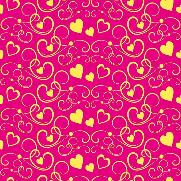 Love hearts. Modern wallpaper - Patterns