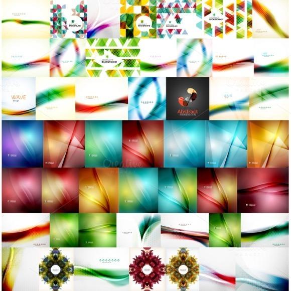 Large Set Of Geometric Backgrounds