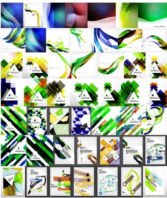 Trendy Geometric Backgrounds Set