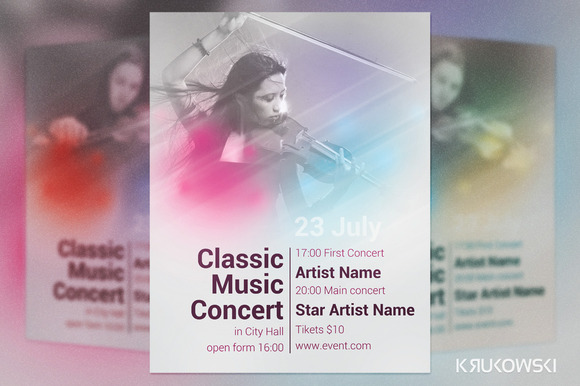 Posters For Classical Music Concerts Classic Music Concert Flyer