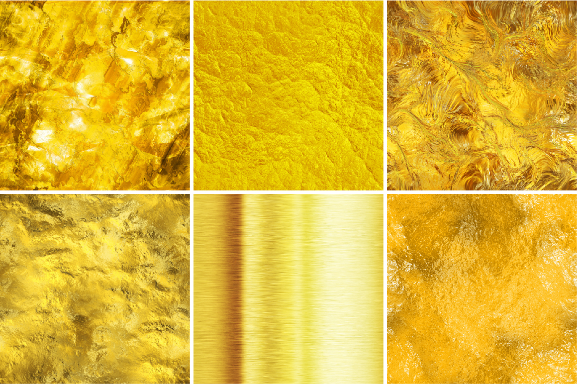 16 seamless gold textures. High res. ~ Textures on Creative Market