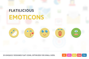 Emoticons Flat Icons