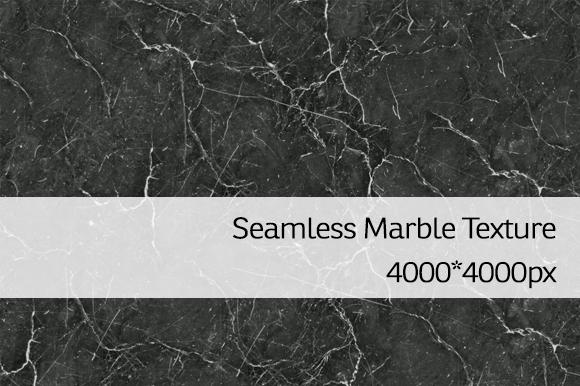 Seamless Black Marble Texture