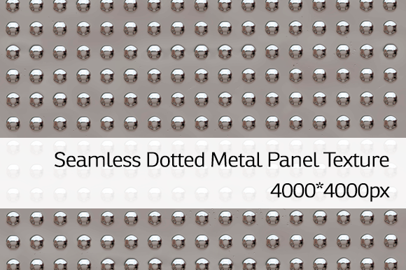 Seamless Dotted Metal Panel Texture