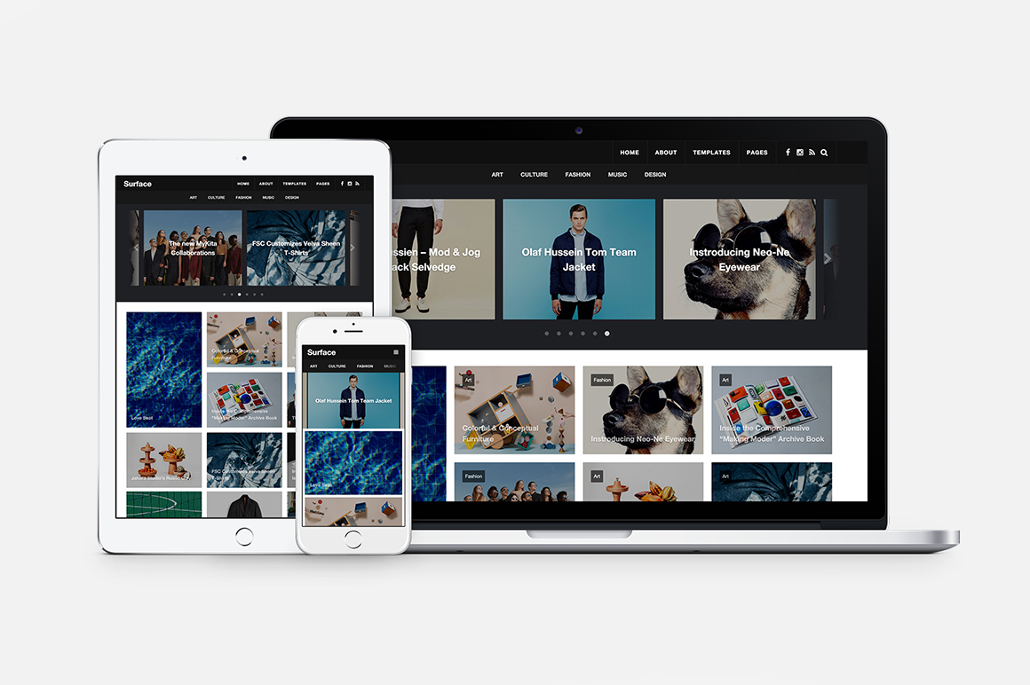 Surface Magazine Style Theme Wordpress Magazine Themes On Creative Market
