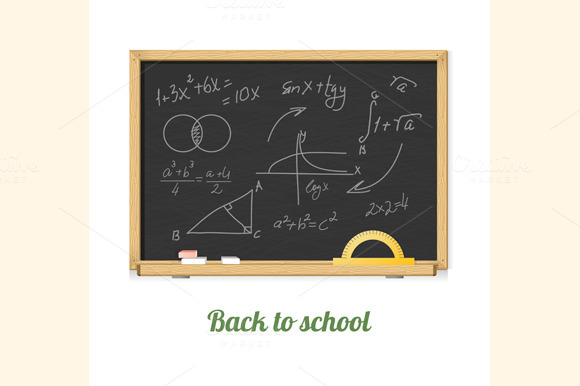 Vector Chalkboard Set