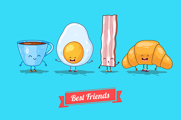 Funny Cup Egg Bacon Croissant
