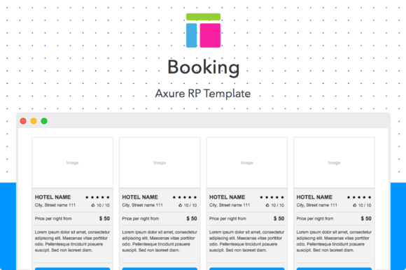 Axure template booking website templates on creative for Axure tablet template
