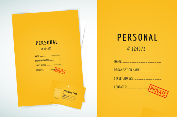 Form Blank Template Folder Paper