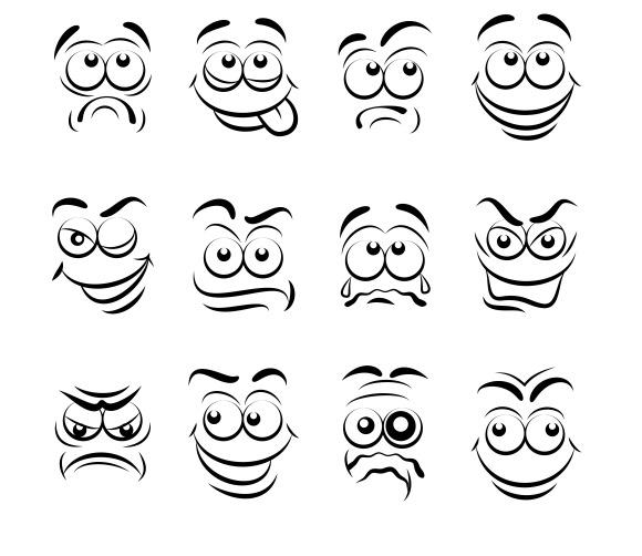 Anime Emotions Faces » Designtube - Creative Design Content