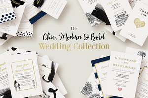 Chic,Modern&Bold Wedding Collection