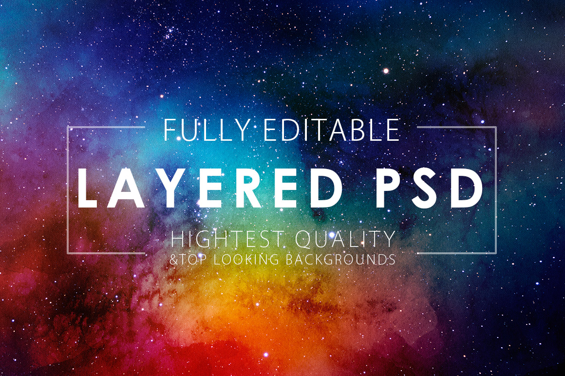 50 Off Space Watercolor Backgrounds Textures On