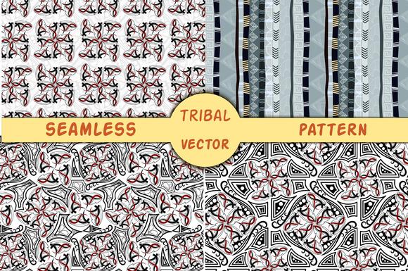 4 Tribal Vector Pattern