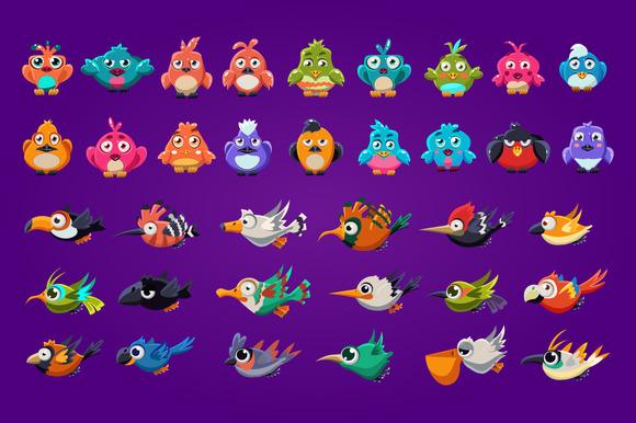 Funny Cartoon Birds