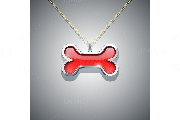 Bone On Chain Jewellery Decoration