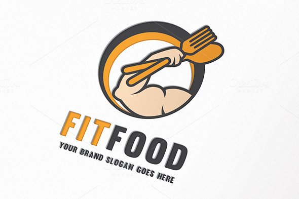 Food product logo with o