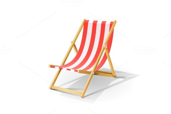 Wooden beach chaise longue illustrations on creative market for Beach chaise longue
