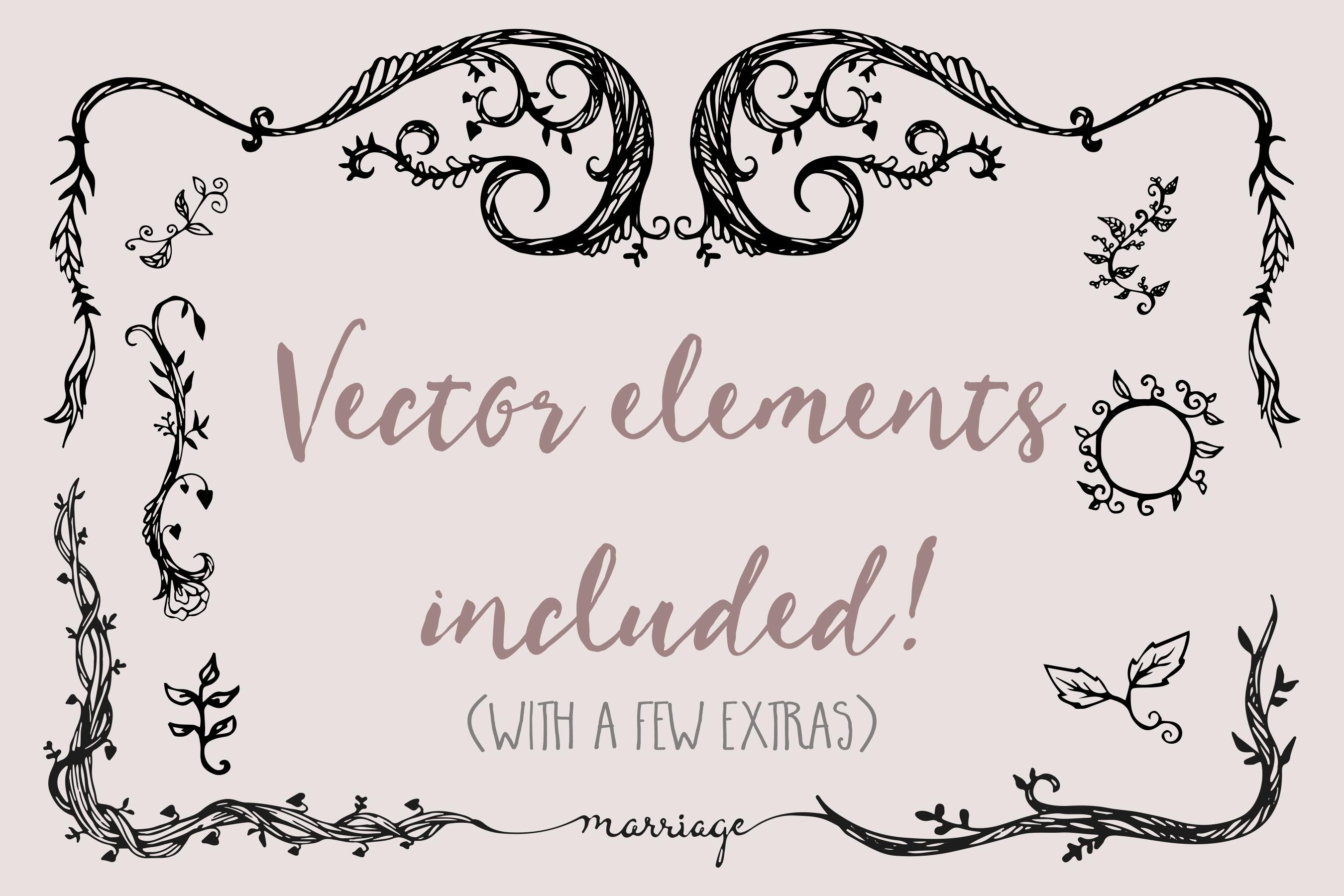Vine Wedding Invitation Suite ~ Invitation Templates on