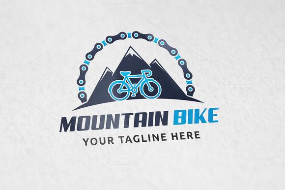 Mountain Biking Logo Template
