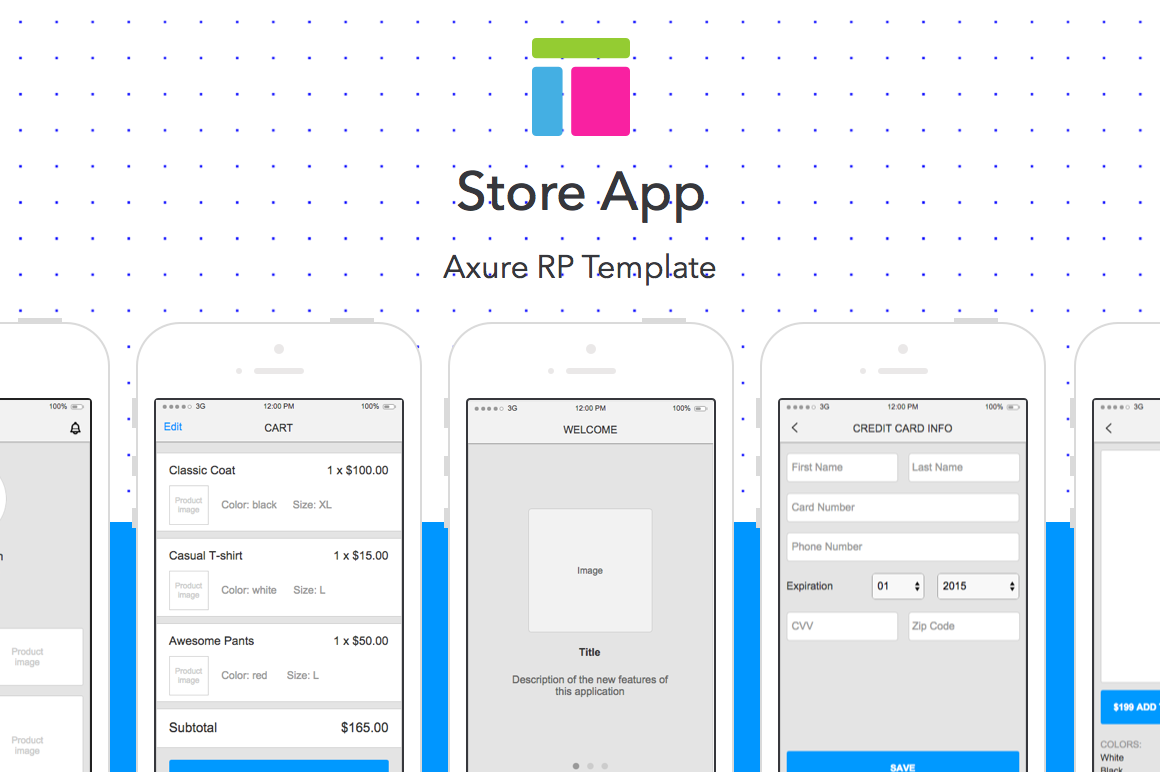 Axure template Store App   Website Templates on Creative Market S8sF42vV