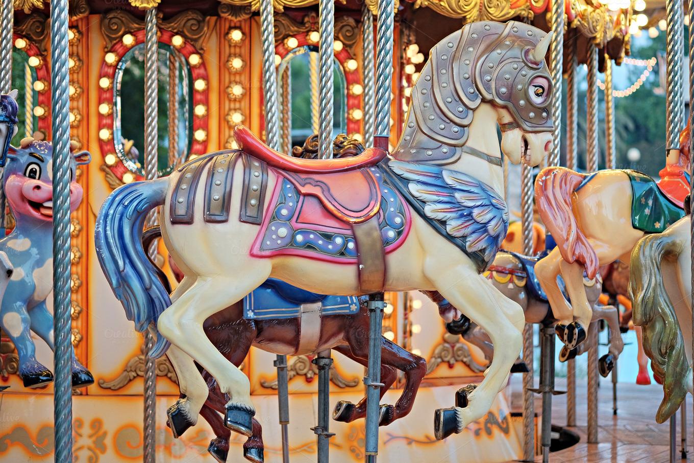 Vintage carousel horses ~ Arts & Entertainment Photos on ...