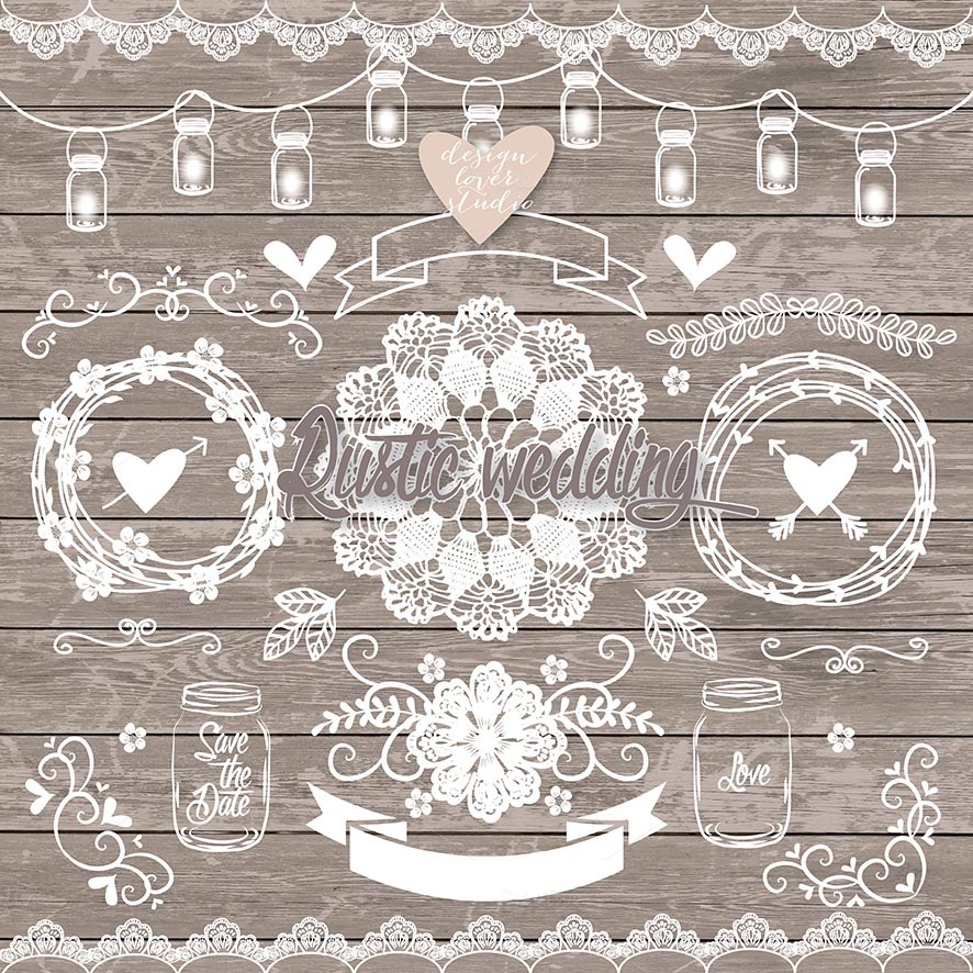 Vector Rustic Wedding Elements Illustrations On Creative