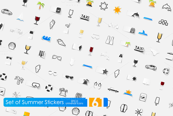 161 Summer Stickers