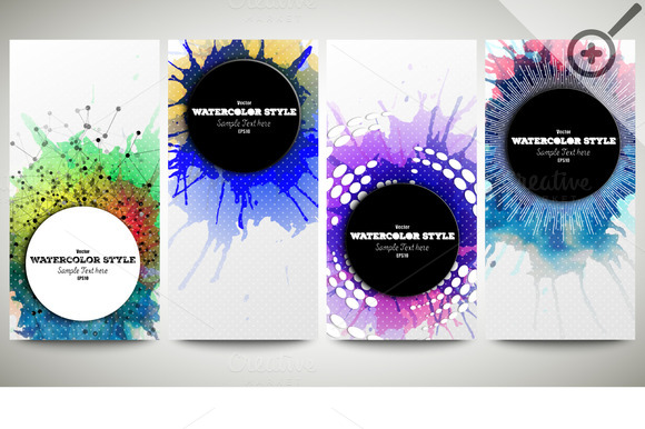 Colorful Banners Abstract Flyers