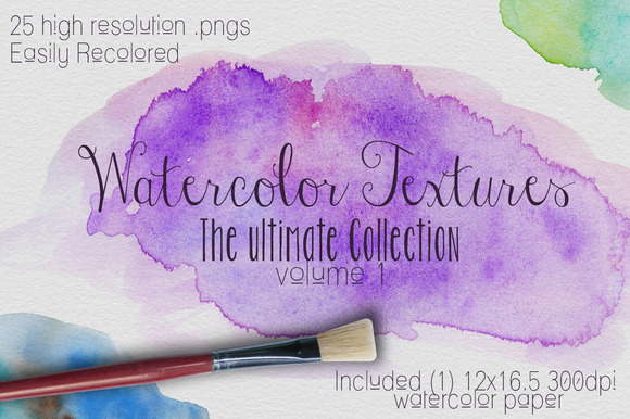 Watercolor Texture Vol. #1 - Textures