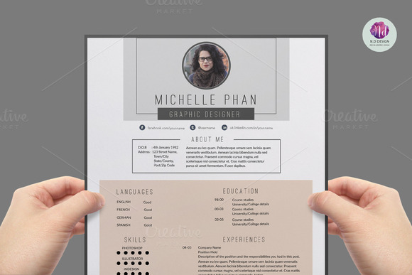 pretty resume templates pretty lta hrefquothttpcv dhalls resumetemplat mlquotgtresume modern chic cv template resume templates on creative market best free