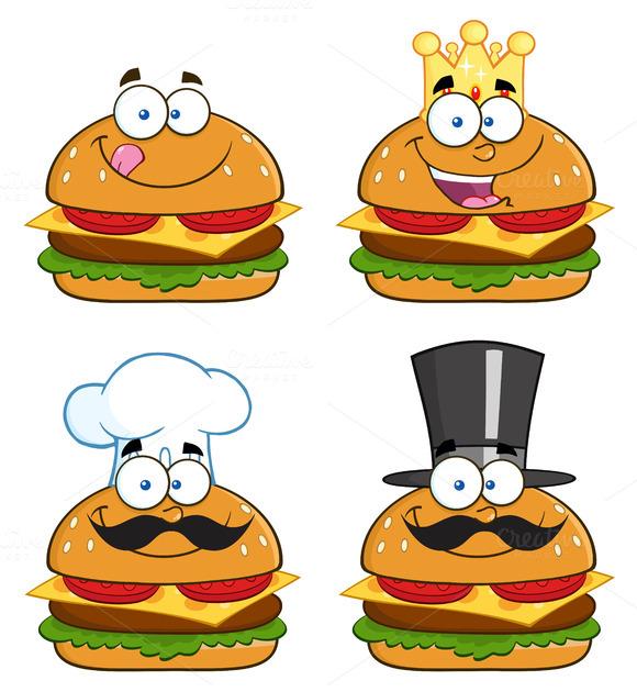 Hamburger Characters Collection Set