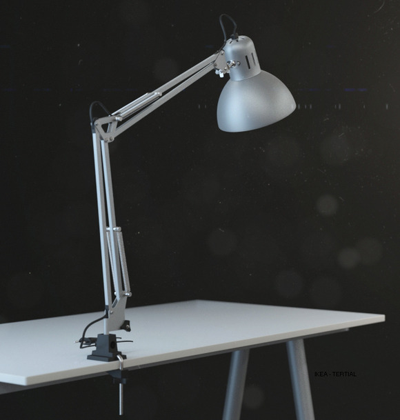 Ikea Tertial Work Lamp 3d Model Objects On Creative Market