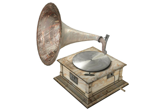 Old gramophone 3d model objects on creative market for Old objects