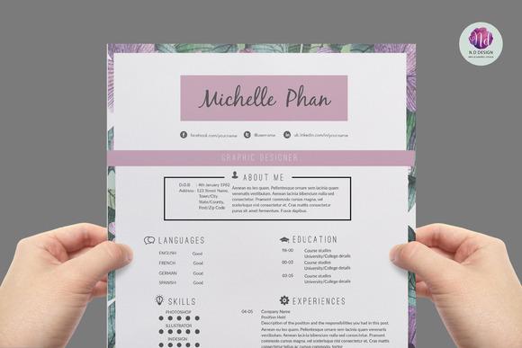 modern  page resume template  resume templates on creative marketmodern resume template