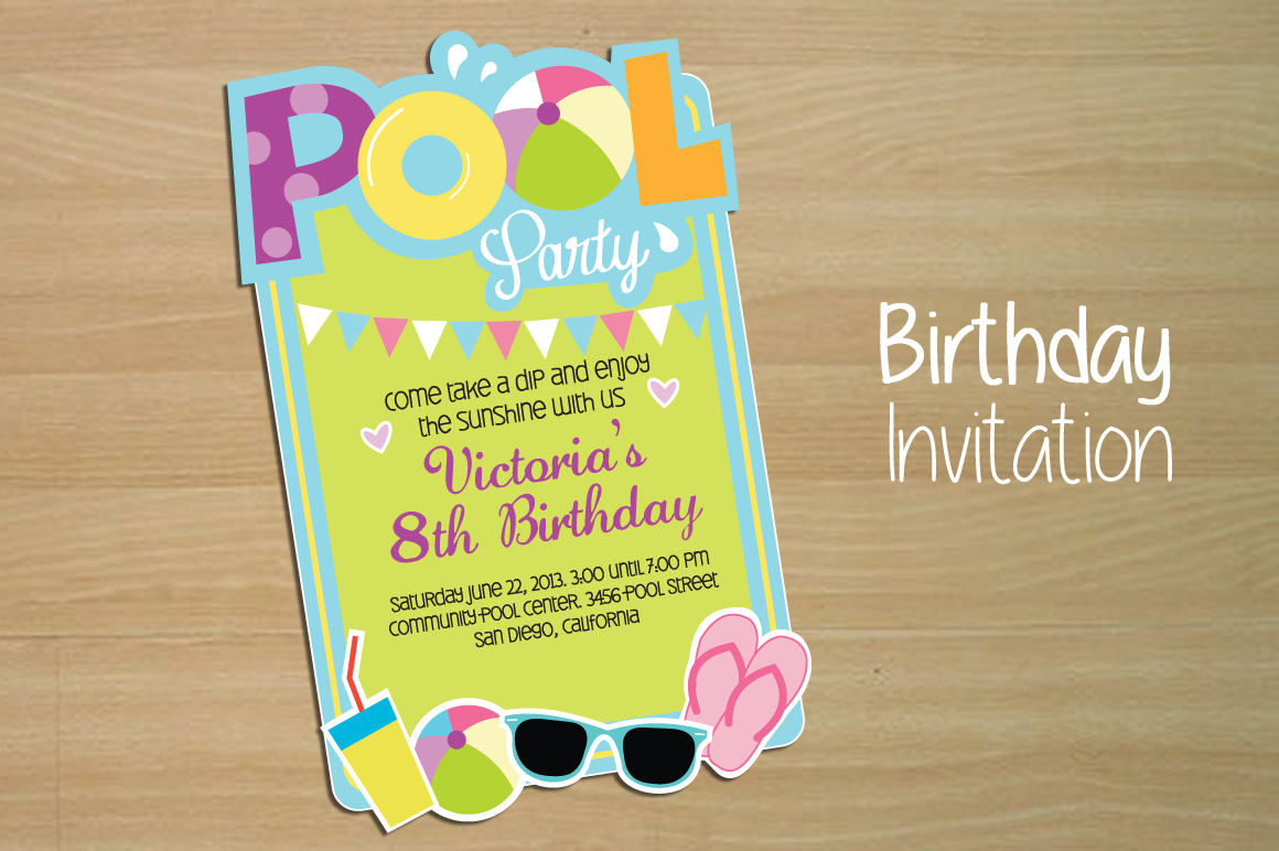 pool party invitation templates pool party invitation template invitation pool party invitation templates on creative market