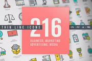 Thin Line Business & Market-Graphicriver中文最全的素材分享平台