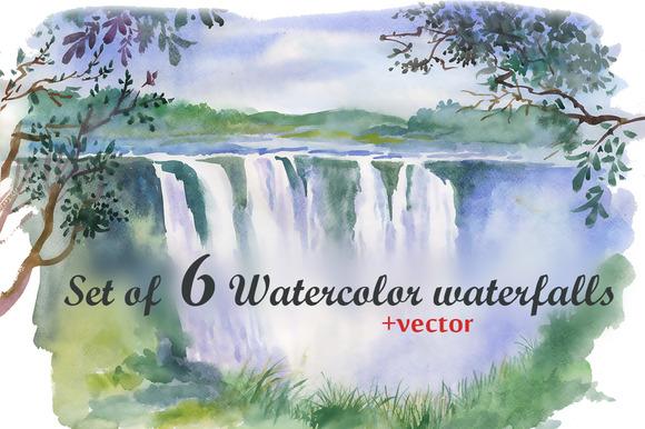Watercolor Waterfalls