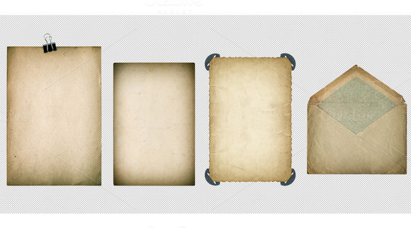 50% Old Paper Sheets PSD With Layers