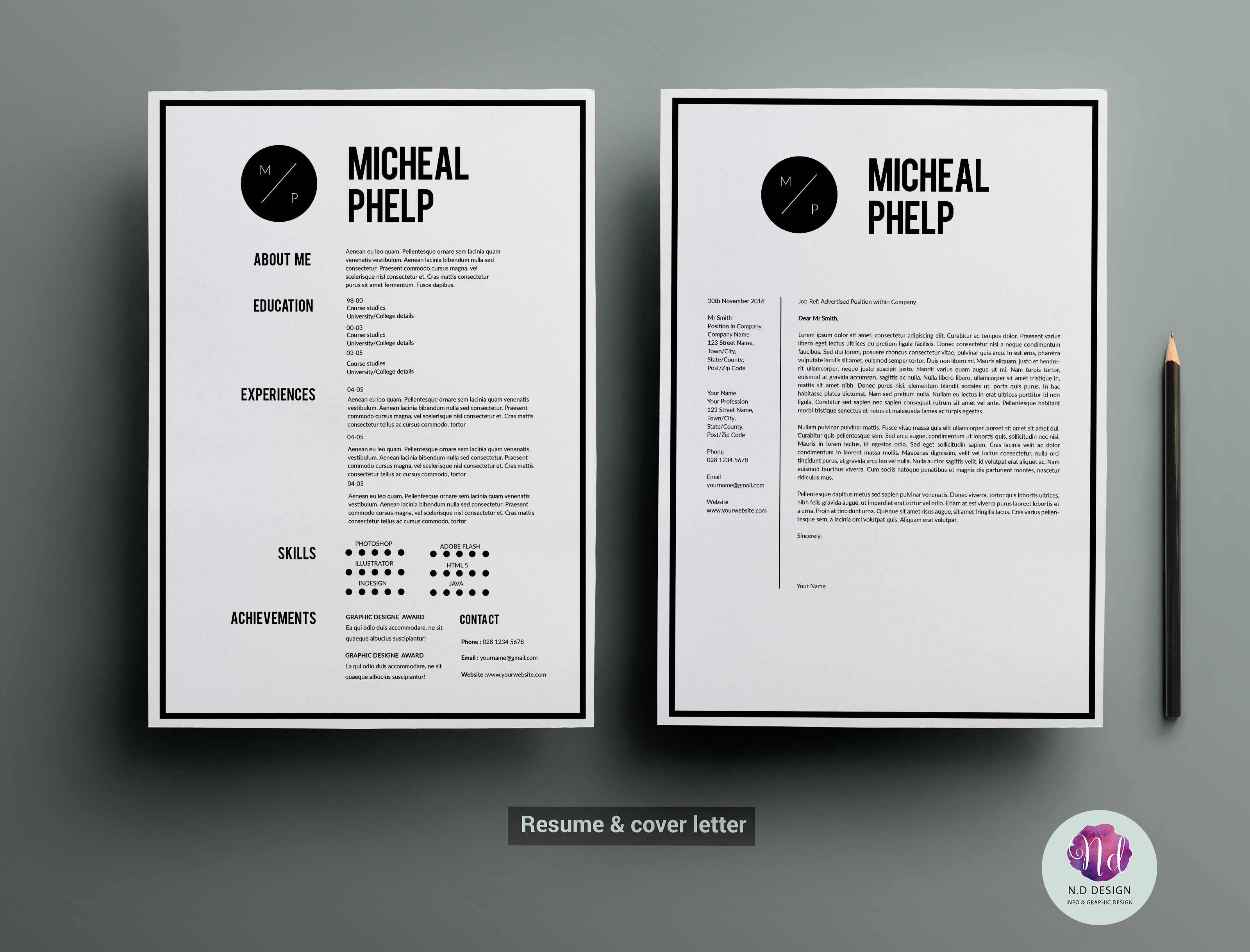 Resume Templates On Creative Market