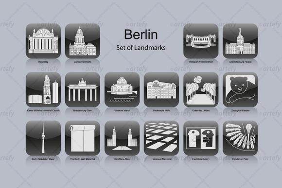 Berlin Landmark Icons