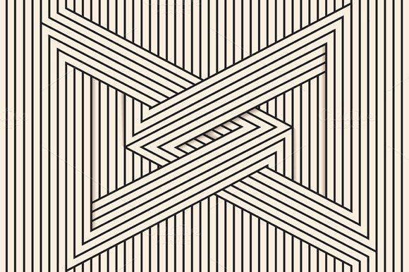 Line Art Illusion : Visual illusion line art illustrations on creative market