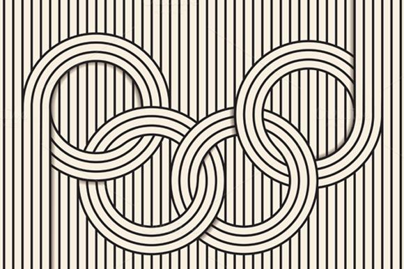 Line In Visual Art : Visual illusion line art illustrations on creative market