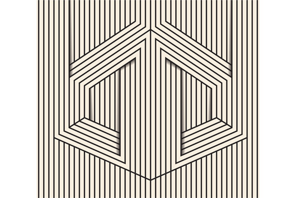 Line Art Illusion : Visual illusion line art graphics on creative market