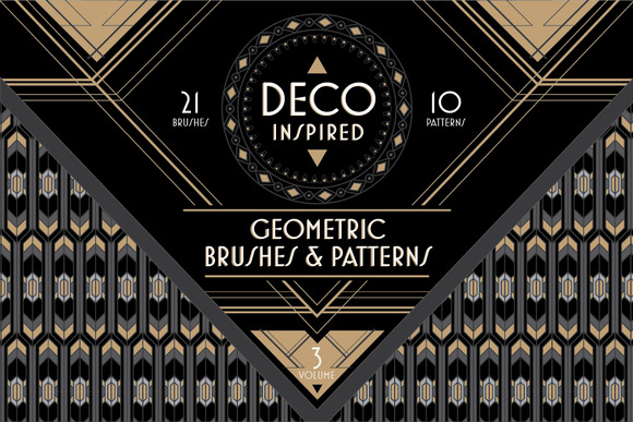 Deco brushes patterns vol 3 patterns on creative market - Deco vol ...