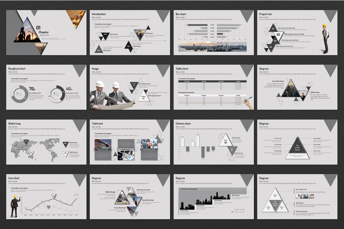 Architectural Design ~ Presentation Templates on Creative ... Architectural Furniture Templates