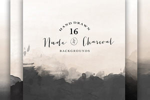 Nude and Charcoal backgrounds