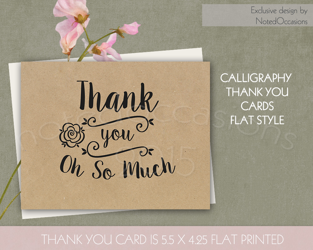 Kraft paper thank you cards card templates on creative