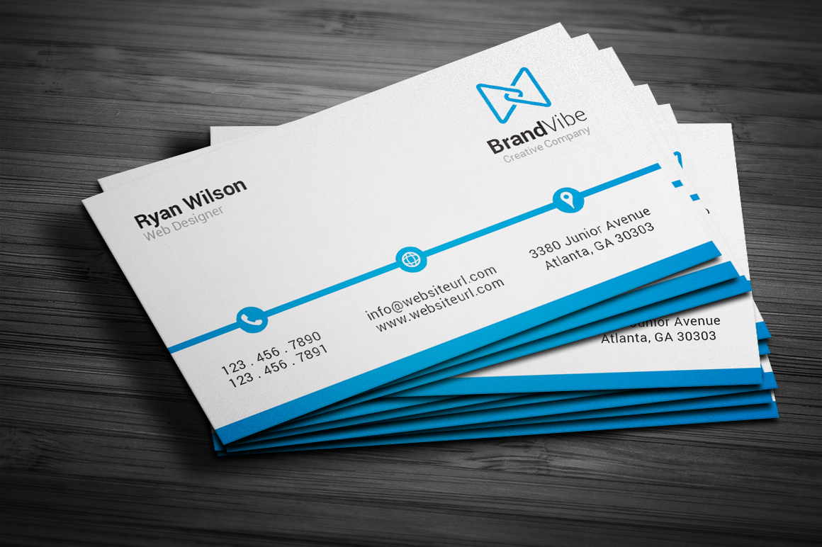 simple clean business card  business card templates on